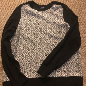 Gap Mixed Media Black and White Sweater